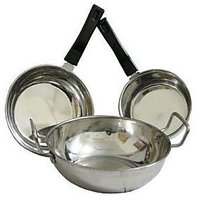 Detak  3 PCs Stainless Steel Induction Based Cookware Set  With Free One Saptula