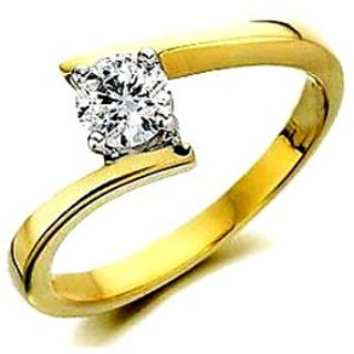 Certified Diamond Solitaire 14 Carat BIS Hallmark Gold Ring, GANDHI JEWELLERS