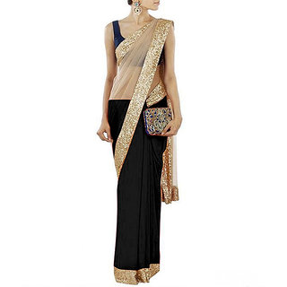 Gopinath Creation Black Latest New Designer Embroidered Saree