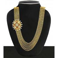 Zaveri Pearls Exquisite Layered Necklace-ZPFK4971