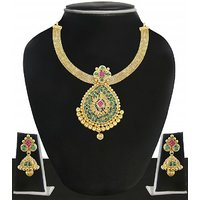 Zaveri Pearls Designer Kundan Necklace Set-ZPFK4987