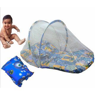 Suraj Blue Bedding Set (Gadi Set) With Pillow And Mosquito Net for your baby