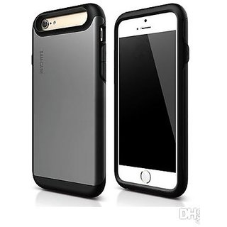 SAM CASE Hybrid TPU Ultra Layer Protective iPhone 6 Back Cover Grey Silver