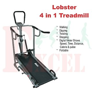Manual treadmill 4 in 1 available at ShopClues for Rs.11000