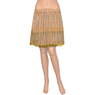 Pezzava: Casual Wear Rajasthani Ethnic Style Women's Chiffon Skirt SKT-A0407