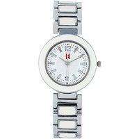 Excelencia WW-19-Silver-WHT White Grace Analog Watch -For Women 685641001013