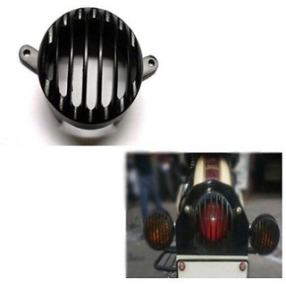 Biker World Customised Tail Light Grill Black for Enfield Bullet Classic
