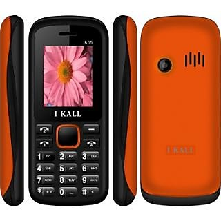 IKall K55 RED-ORANGE (1.8 Inch Dual Sim BIS Certified Made in India)