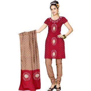 Cotton Dress Material Tie Dye Unstitched Ladies Salwar Suit