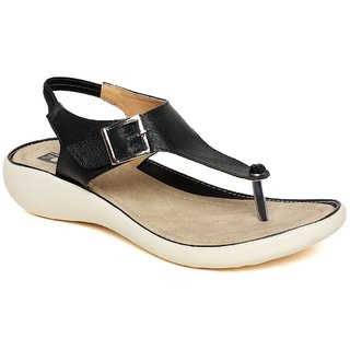 Vendoz Women Stylish Black Sandals