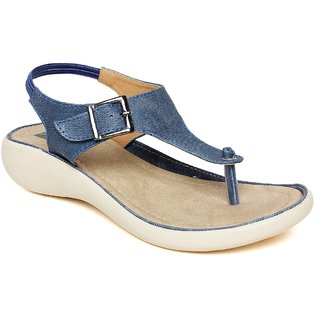 Vendoz Stylish Denim Fabric Sandals
