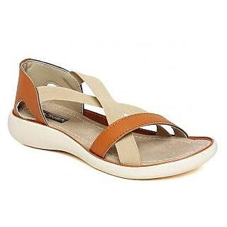 Vendoz Stylish Tan Sandals