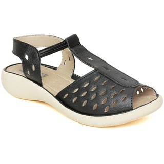Vendoz Stylish Black Sandals