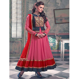 Thankar New Attractive Pink Anarkali Suit