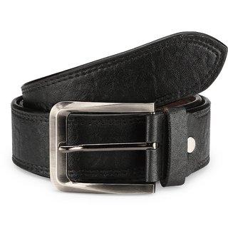 TSX Mens Black Faux Leather Belt