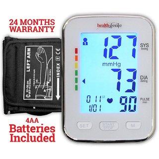 Healthgenie BP Monitor digital Upper arm BPM 04BL Automatic