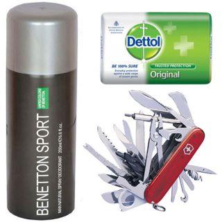 Benetton+ Utility knife + Dettol