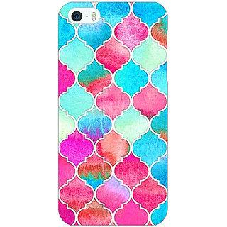 1 Crazy Designer Blue Pink Moroccan Tiles Pattern Back Cover Case For Apple iPhone 5 C20295