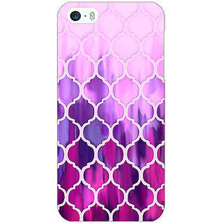 1 Crazy Designer Pink Magenta Moroccan Tiles Pattern Back Cover Case For Apple iPhone 5 C20298