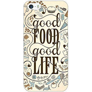 1 Crazy Designer Good Food Quote Back Cover Case For Apple iPhone 5 C21226
