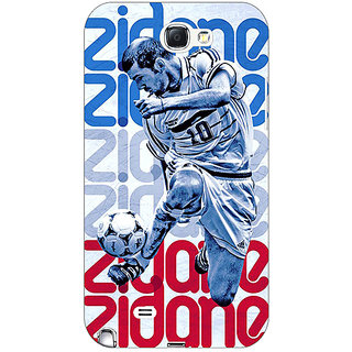 1 Crazy Designer Real Madrid Zidane Back Cover Case For Samsung Galaxy Note 2 N7100 C80590