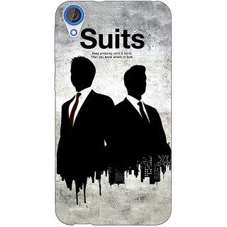 1 Crazy Designer SUITS Harvey Spector Back Cover Case For HTC Desire 820Q C290478