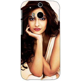 1 Crazy Designer Bollywood Superstar Sonam Kapoor Back Cover Case For HTC One M8 C141016