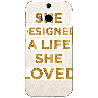 1 Crazy Designer Quotes Beautiful Back Cover Case For HTC One M8 C141190