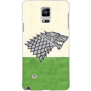 1 Crazy Designer Game Of Thrones GOT House Stark  Back Cover Case For Samsung Galaxy Note 4 C210120