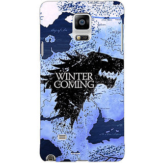 1 Crazy Designer Game Of Thrones GOT House Stark  Back Cover Case For Samsung Galaxy Note 4 C210122