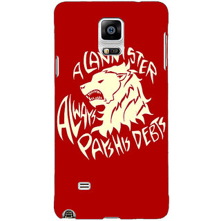 1 Crazy Designer Game Of Thrones GOT House Stark  Back Cover Case For Samsung Galaxy Note 4 C210123