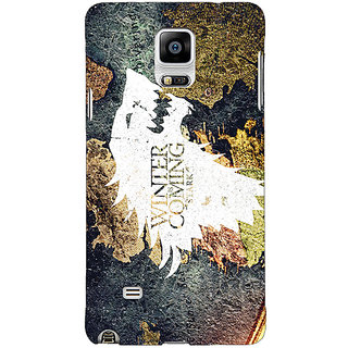 1 Crazy Designer Game Of Thrones GOT House Stark  Back Cover Case For Samsung Galaxy Note 4 C210124