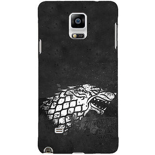 1 Crazy Designer Game Of Thrones GOT House Stark  Back Cover Case For Samsung Galaxy Note 4 C210125