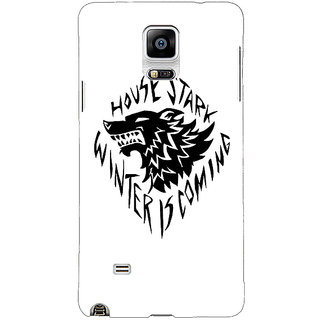 1 Crazy Designer Game Of Thrones GOT House Stark  Back Cover Case For Samsung Galaxy Note 4 C210127