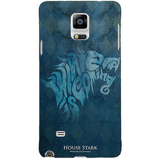 1 Crazy Designer Game Of Thrones GOT House Stark  Back Cover Case For Samsung Galaxy Note 4 C210128