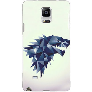 1 Crazy Designer Game Of Thrones GOT House Stark  Back Cover Case For Samsung Galaxy Note 4 C210129