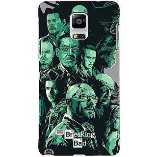 1 Crazy Designer Breaking Bad Heisenberg Back Cover Case For Samsung Galaxy Note 4 C210401