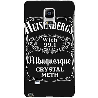 1 Crazy Designer Breaking Bad Heisenberg Back Cover Case For Samsung Galaxy Note 4 C210402