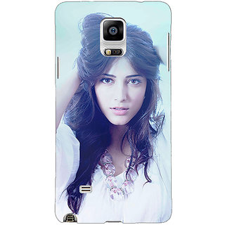 1 Crazy Designer Bollywood Superstar Shruti Hassan Back Cover Case For Samsung Galaxy Note 4 C210988