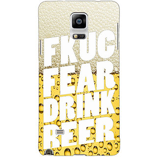 1 Crazy Designer Beer Quote Back Cover Case For Samsung Galaxy Note 4 C211229