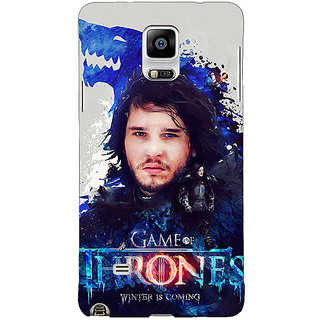 1 Crazy Designer Game Of Thrones GOT Jon Snow House Stark Back Cover Case For Samsung Galaxy Note 4 C211548