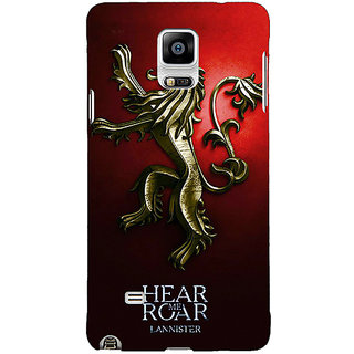 1 Crazy Designer Game Of Thrones GOT House Lannister Back Cover Case For Samsung Galaxy Note 4 C211553