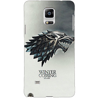 1 Crazy Designer Game Of Thrones GOT House Stark Back Cover Case For Samsung Galaxy Note 4 C211554