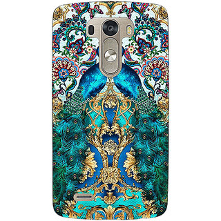 1 Crazy Designer Paisley Beautiful Peacock Back Cover Case For Lg G3 D855 C221593