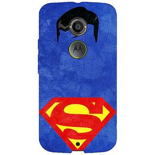 1 Crazy Designer Superheroes Superman Back Cover Case For Moto X (2nd Gen) C230046