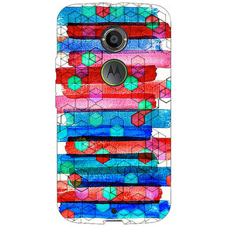 1 Crazy Designer Colourful Winter Pattern Back Cover Case For Moto X (2nd Gen) C230279