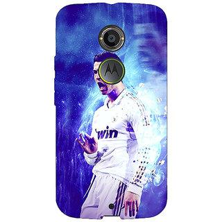1 Crazy Designer Cristiano Ronaldo Real Madrid Back Cover Case For Moto X (2nd Gen) C230308