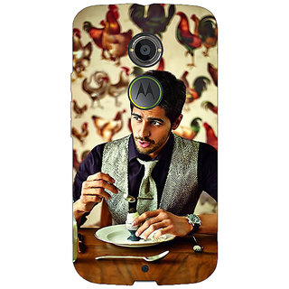 1 Crazy Designer Bollywood Superstar Siddharth Malhotra Back Cover Case For Moto X (2nd Gen) C230942