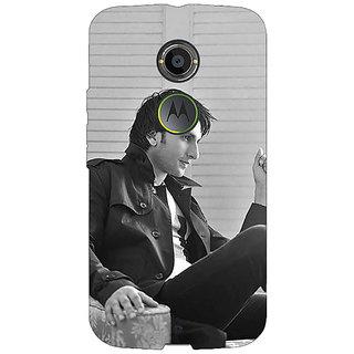 1 Crazy Designer Bollywood Superstar Ranveer Singh Back Cover Case For Moto X (2nd Gen) C230945