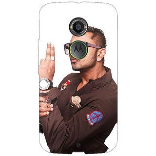 1 Crazy Designer Bollywood Superstar Honey Singh Back Cover Case For Moto X (2nd Gen) C231183
